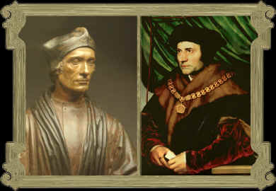 John Fisher (left) and Thomas More (right)